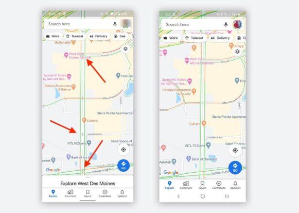 google maps sygnalizacja