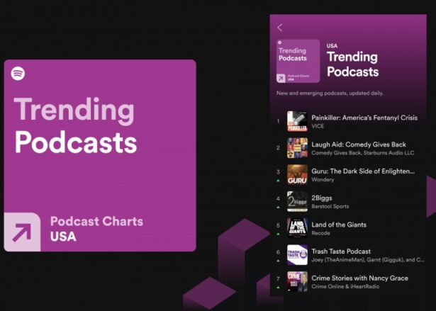 spotify trending podcasts