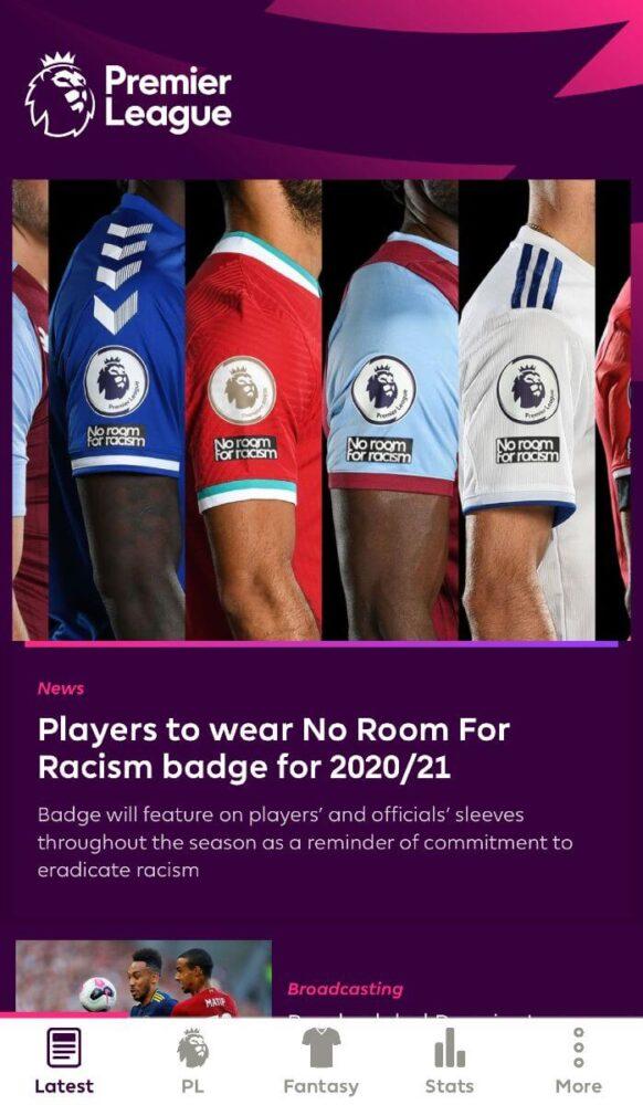 aplikacja premier league