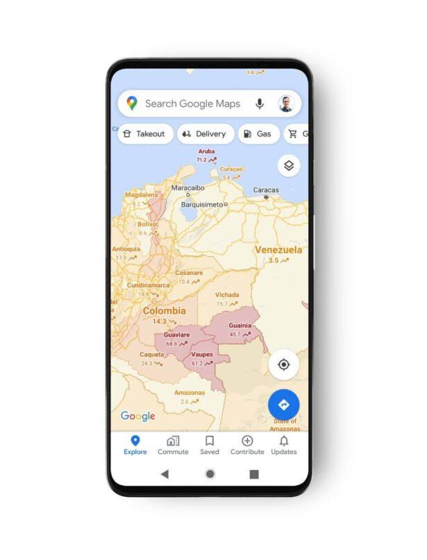 google maps covid 2