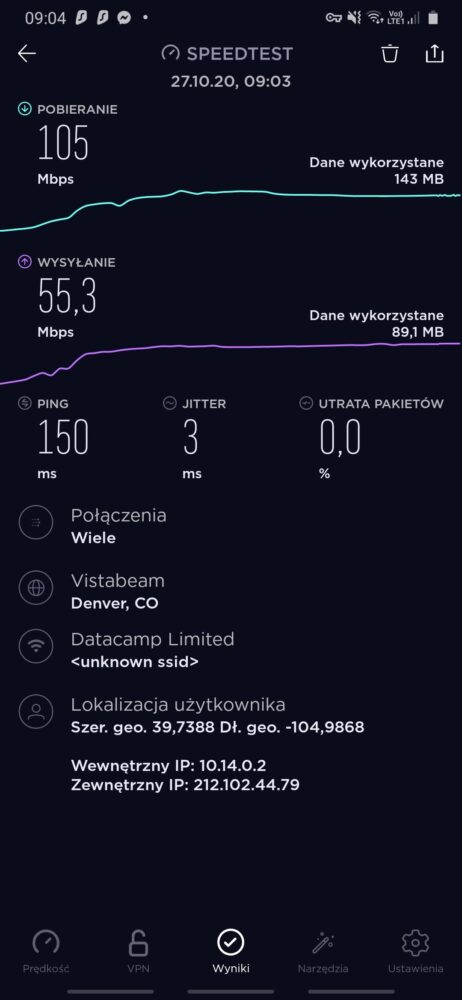 Screenshot 20201027 090416 Speedtest