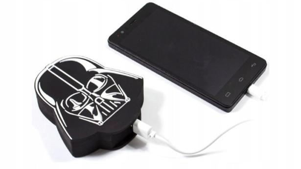 PowerBank 5000 mAh Star Wars 3D Darth Vader Czarny Kolor czarny